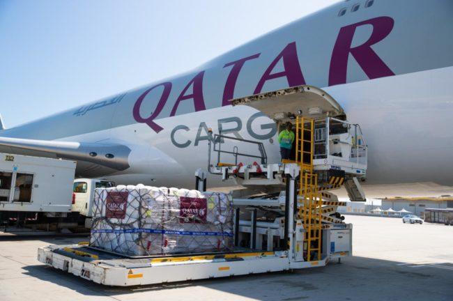 Qatar Airways Cargo donates 1 million kilos in freight transportation