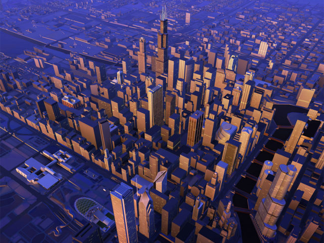 3D Chicago map