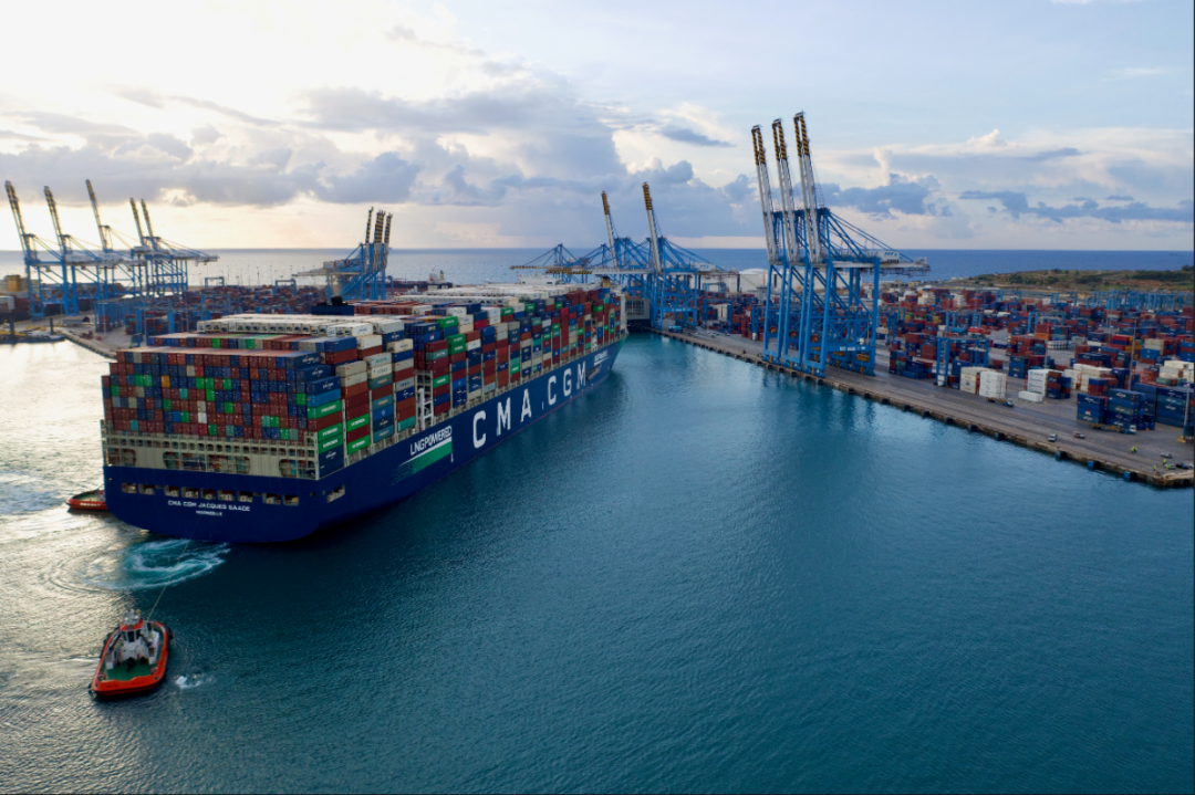 CMA CGM Jacques Saade makes first call in Europe