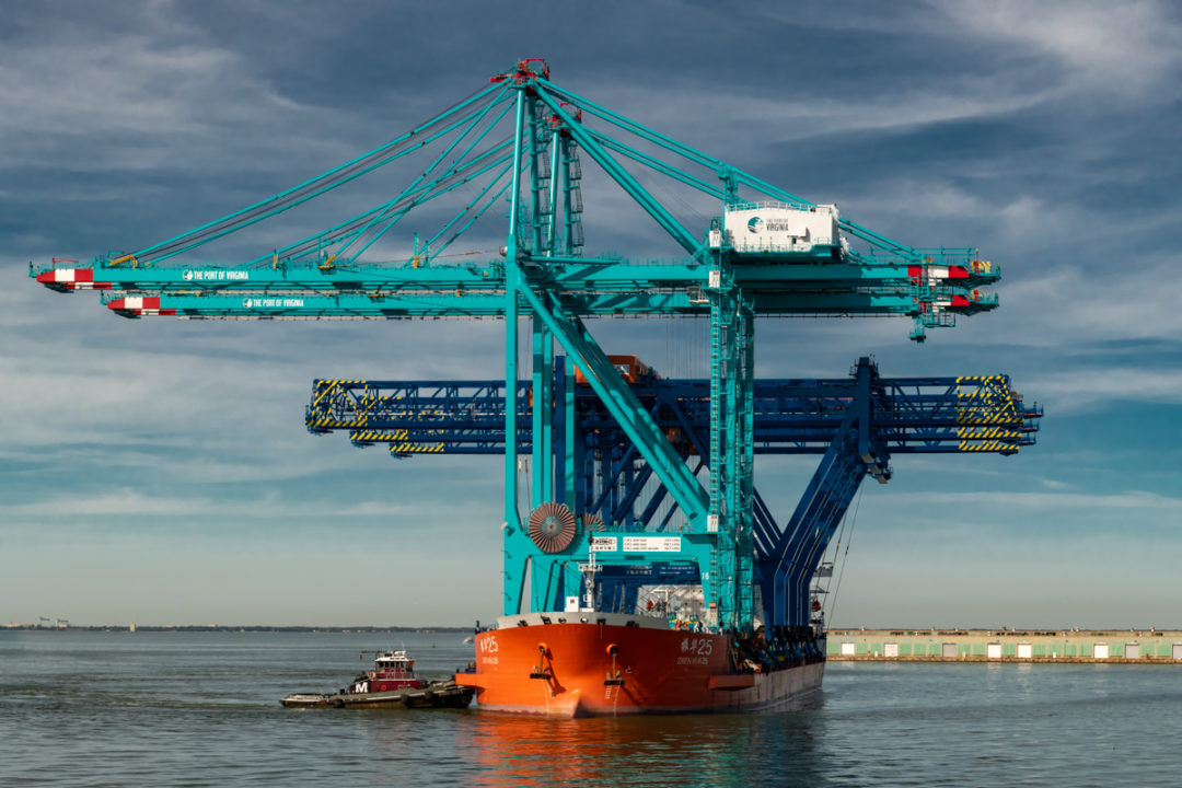 Massive cranes installed at Port of Virginia