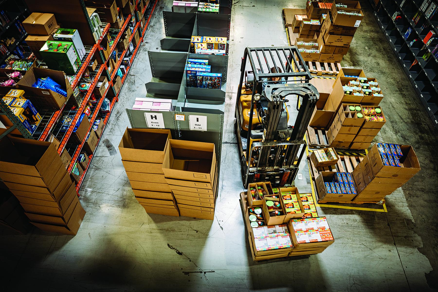 Perc propane forklift warehouse
