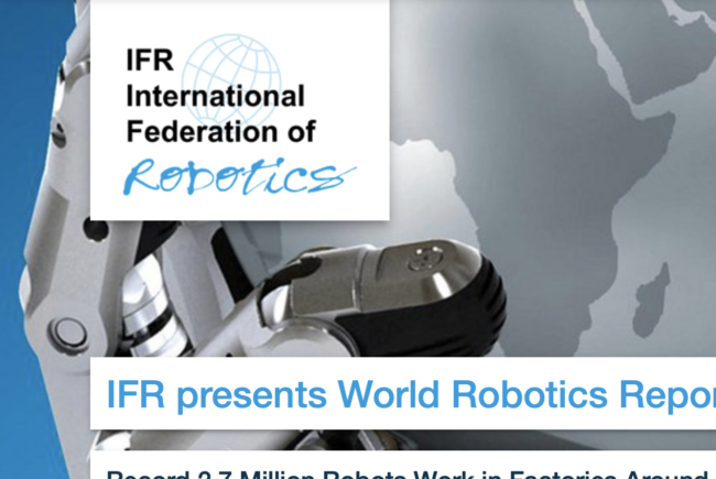 Record 2.7 million robots in use worldwide, IFR says