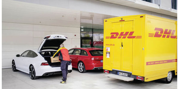 DHL tests car-trunk delivery for mobile parcel program