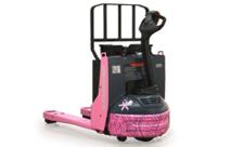 Pink Raymond lift truck