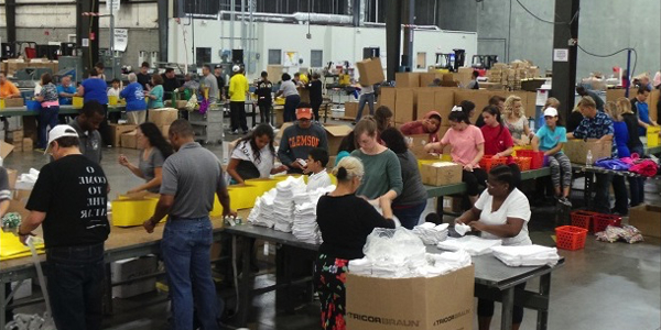 Logistics gives back
