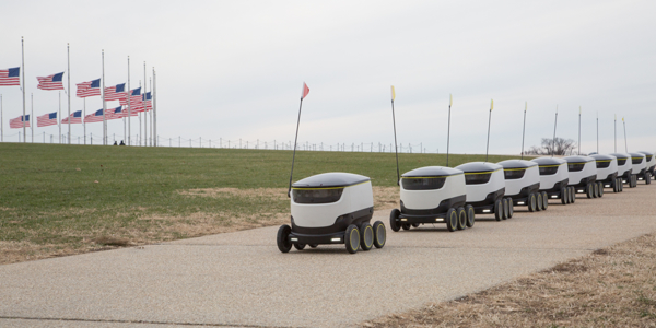Self-driving parcel-delivery robots expand U.S. trials