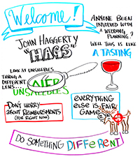 Welcome - John Haggerty - Look at unsaleables through a different lens - Don't worry about reimbursements (for right now) - Everything else is fair game - Do something different