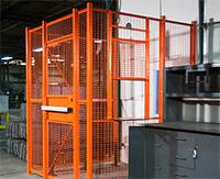 Orange driver cage