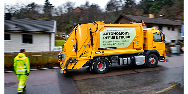 Self-driving garbage truck could offer glimpse into parcel delivery's future