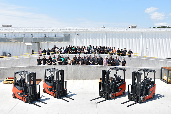 KION North America Celebrates Start of Production on New Forklifts