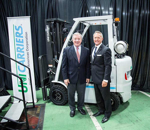 Durbin visit to UniCarriers Americas highlights job growth and economic impact