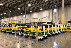 Locus robots at Geodis facility