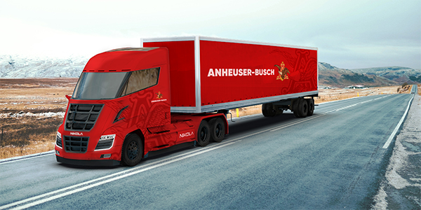 Anheuser-Busch orders up to 800 hydrogen-electric Nikola semi-trucks