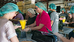 Gulf Winds employees making meals for Hurricane Harvey survivors