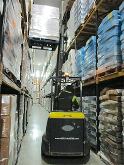 Combilift lift truck in narrow-aisle