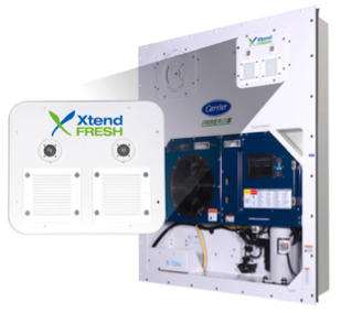 Containervwith Carrier Transicold XtendFRESH tech
