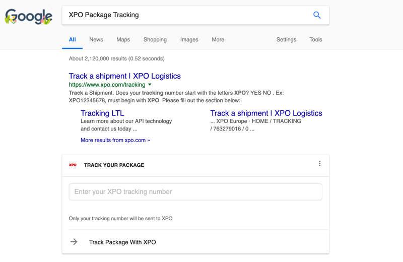 xpo allows online shoppers to track shipments with google dc velocity