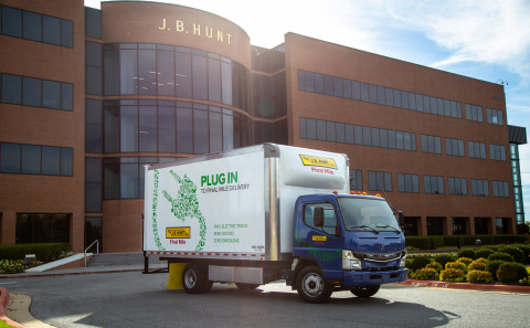 J.B. Hunt adds electric box trucks to fleet