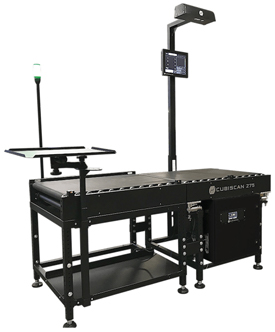Cubiscan CS 275 conveyorized cubing-weighing system