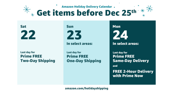 Amazon extends free holiday shipping promotion