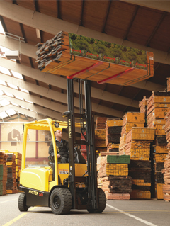 Hyster high lift truck