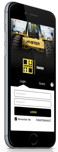 Phone with Hyster app