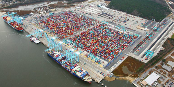 Port of Virginia completes container stack-yard work