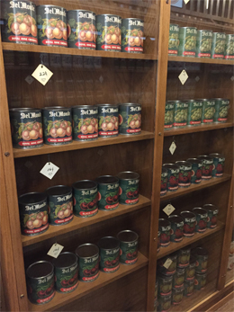 Shelves of pickles