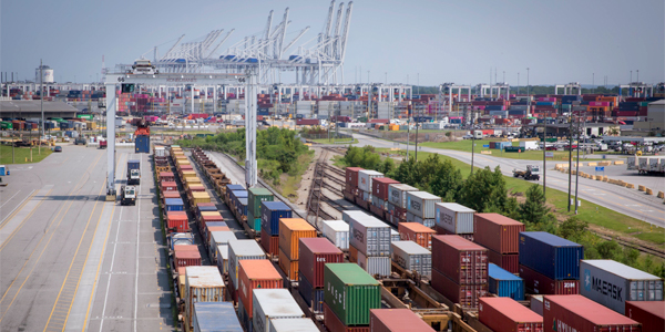 Georgia Ports Authority posts record container volume for April, names new chairman.