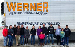 Werner employees in front of truck