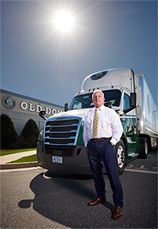 Greg Gantt at Old Dominion Building with truck
