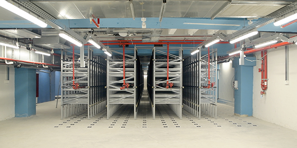 Logistics tech firm builds underground, automated warehouse
