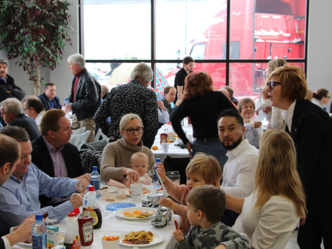 Maxim Truck and Trailer employees at charity breakfast