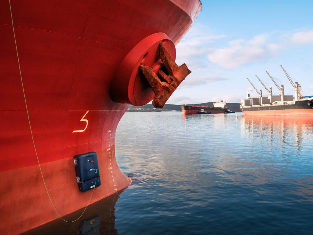 Ship with HullSkater device