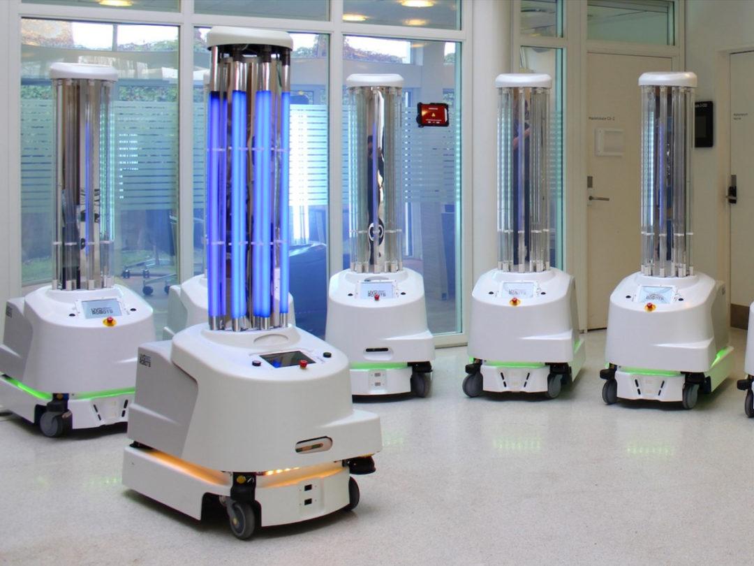 robots disinfect covid virus