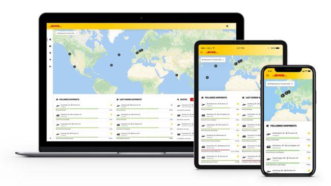 DHL shipment tracking portal