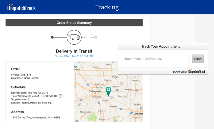 Liveordertracking