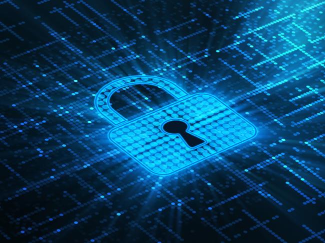 Padlock in cyberspace