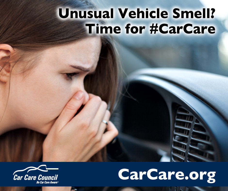 Unusual Vehicle Smell? Time for #CarCare