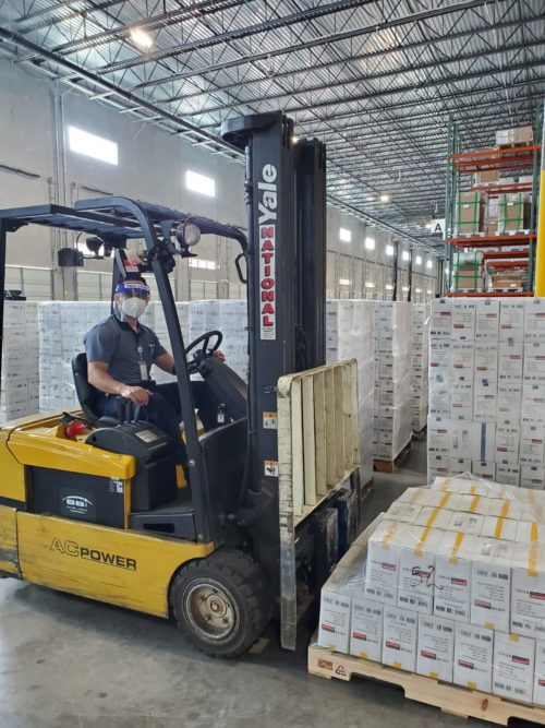 rhenus logistics forklift driver