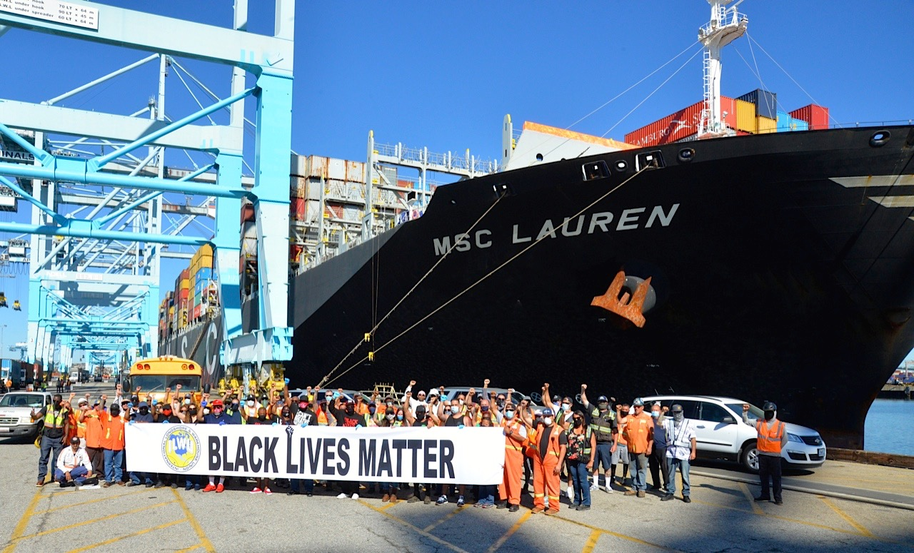 dockworkers BLM strike