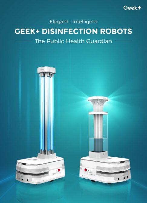 geek plus disinfectant bots