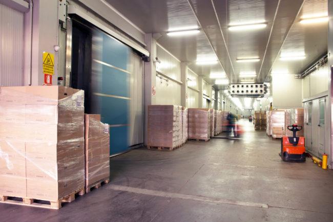 Industrial trucks in warehouse