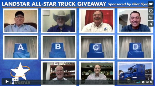 Landstar All-Star Truck Giveaway - video screen shot