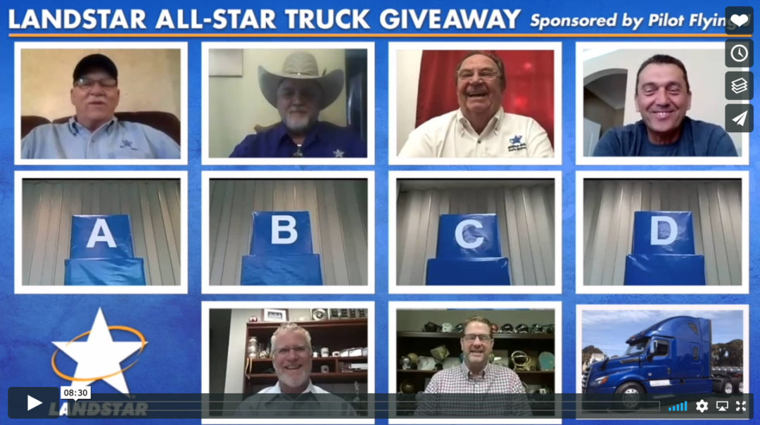 Landstar All-Star Truck Giveaway - video screen shot