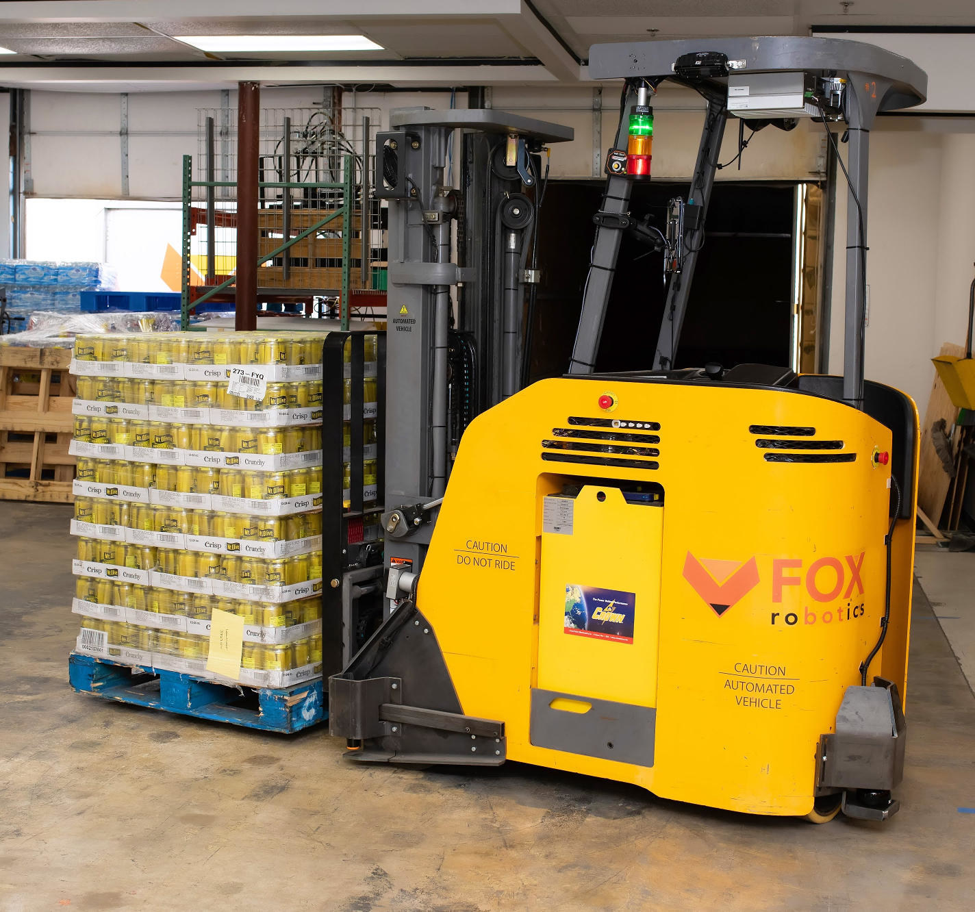 Fox robotics forklift with pickles