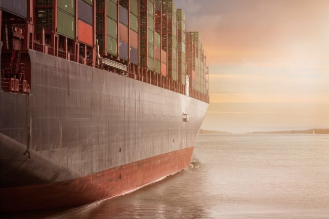 containers and ship generic
