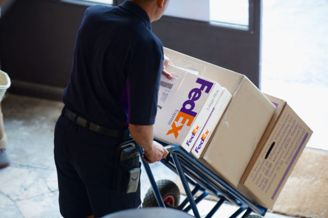fedex box delivery
