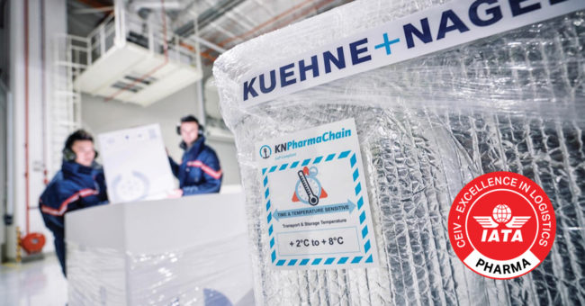 kuehne and nagel vaccine chain