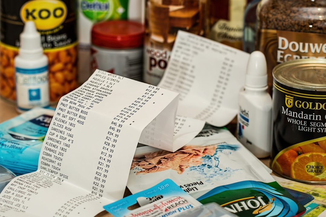 shopping receipt generic